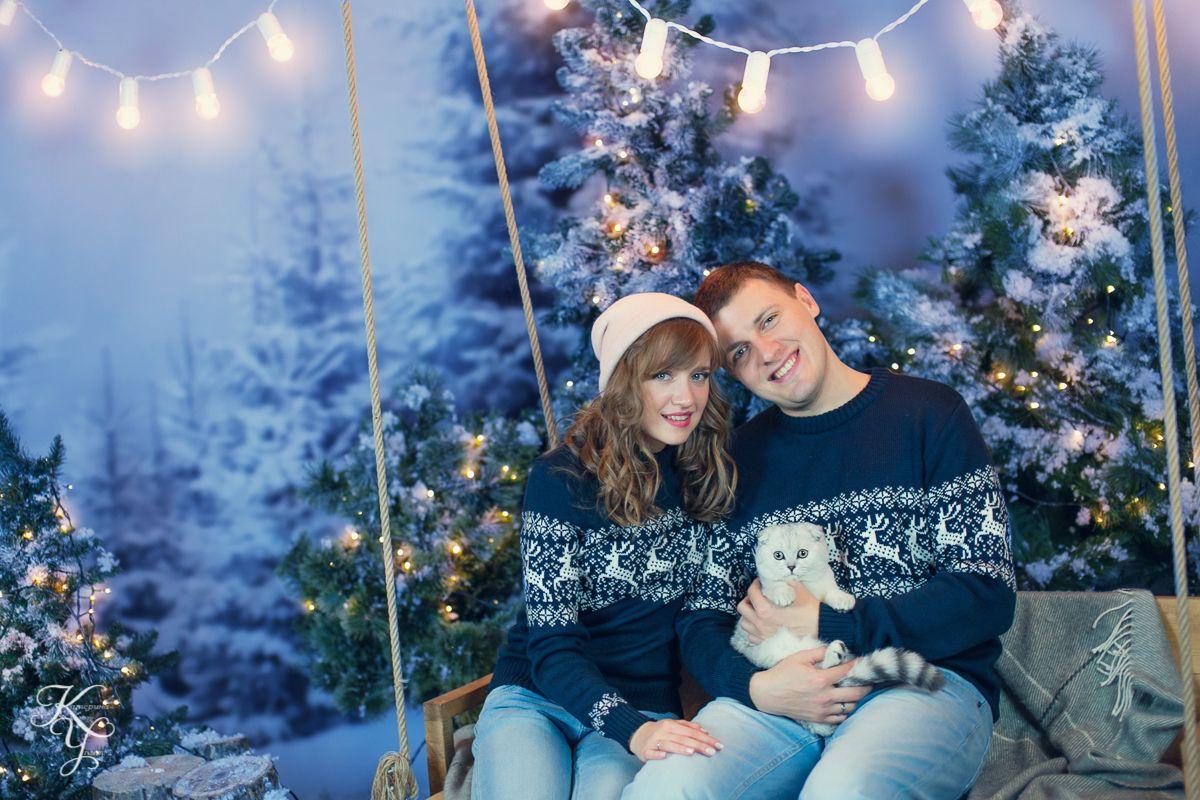 Новогодняя зимняя фотосессия для двоих